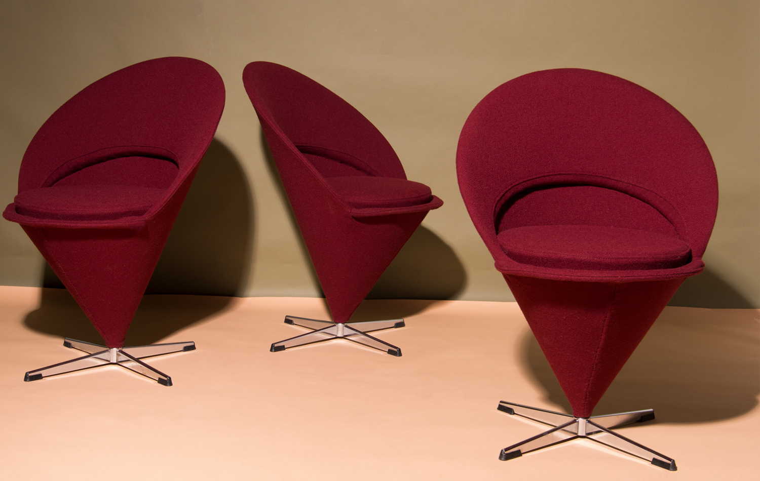 Verner Panton cone chairs
